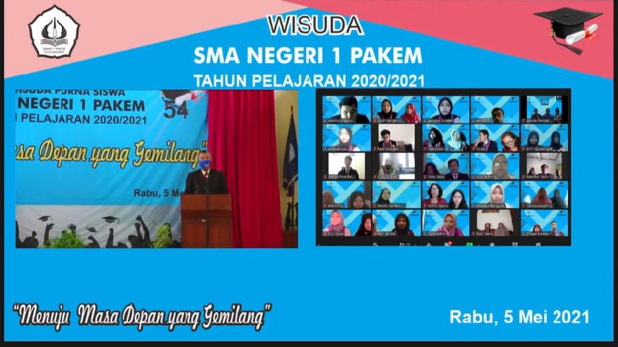 Wisuda Online SMAN 1 PAKEM